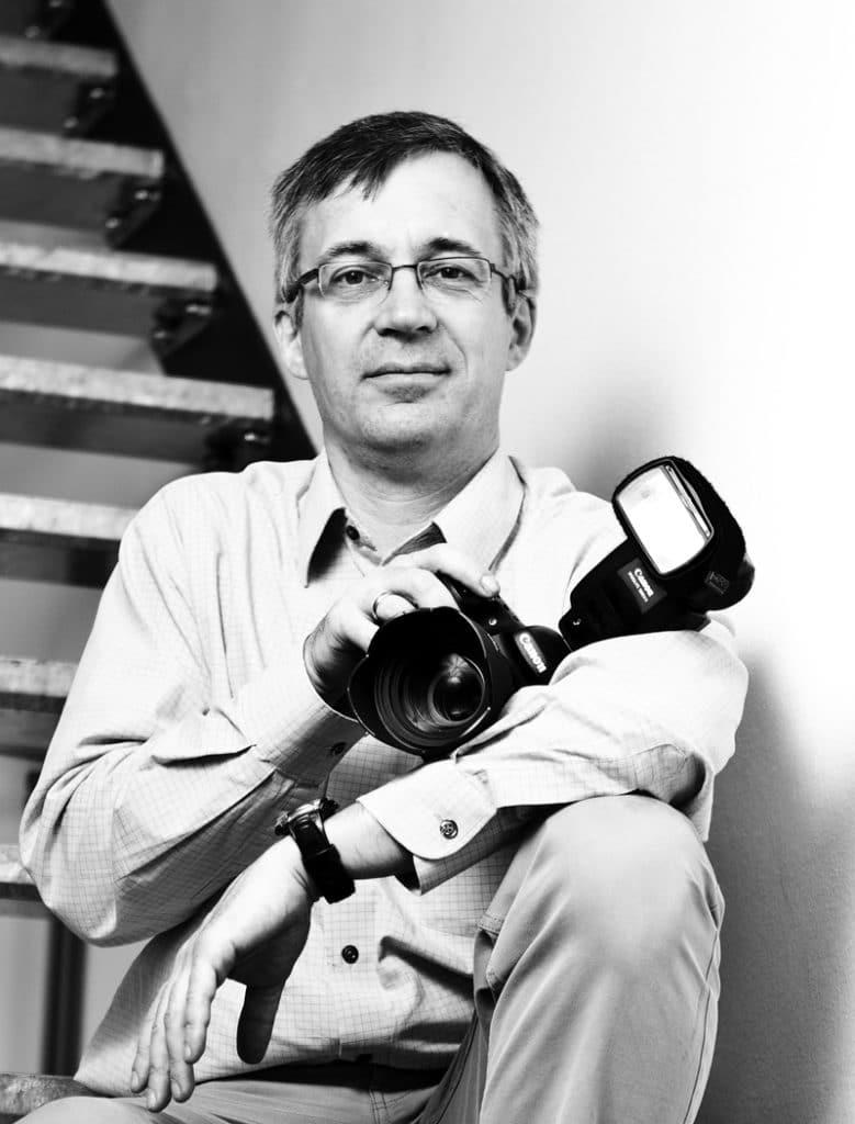 Fotograf Andreas Hasenkamp aus Münster bei einem Fotografie-Workshop in Köln.